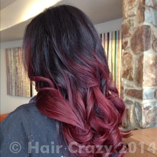 dark burgundy hair with highlights this is the mahoganyred purple ombre that i want to archive - Burgundy Violet Hair Color