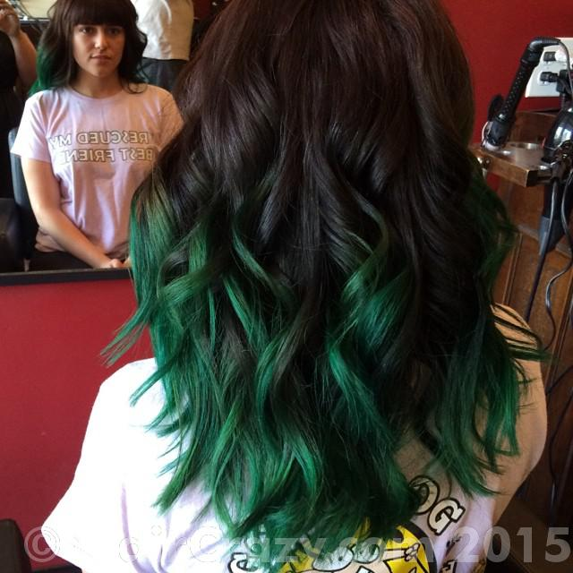 how to get green hair dye out