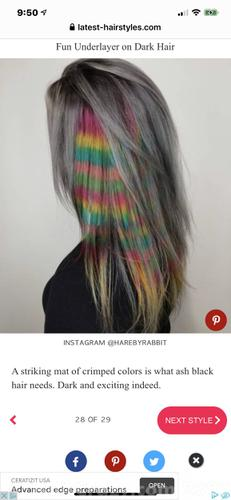 """Horizontal rainbow strip down the short side. But only 1""""."""