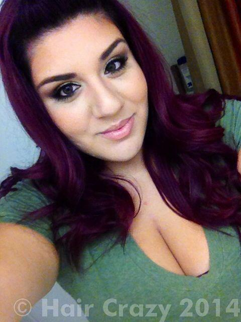 What can i do 2 get this plum burgundy color