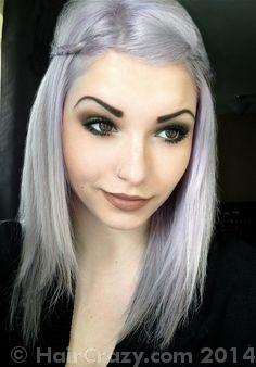how to get silver white hair