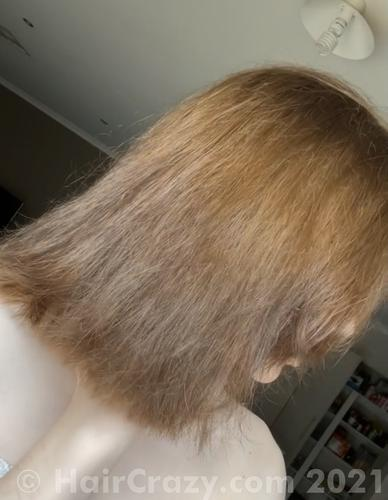Before dying my hair red (base colour)