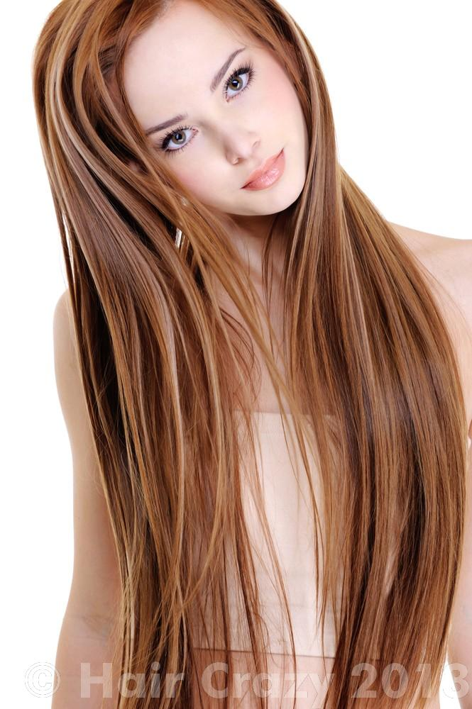 My hair extensions originally came in dark brown with this auburn ...