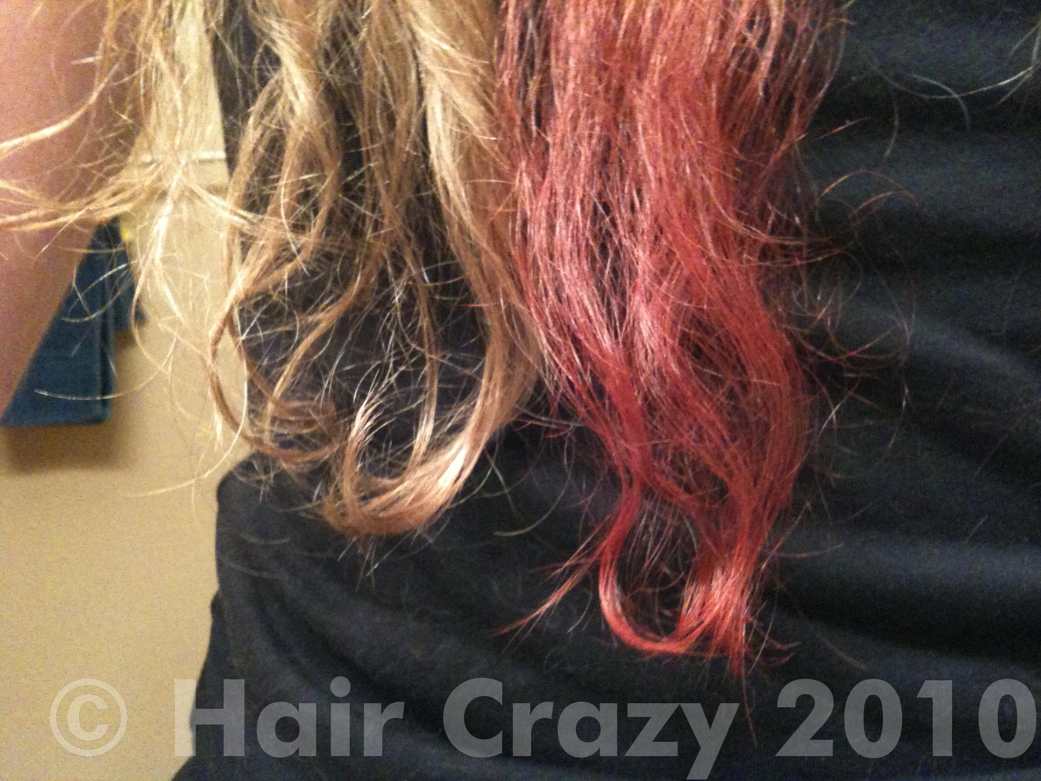 manic panic cotton candy pink on unbleached hair www