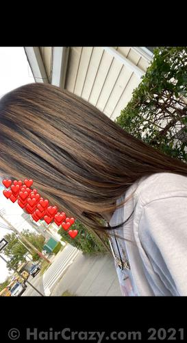 how my hair looks now.. if ur wondering, the color at the ends is not blended, it just looks like a full head of highlights