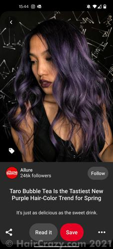 The colour that I'd like to achieve