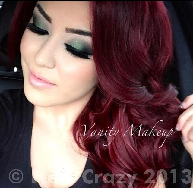 Deep Burgundy Red Hair Color