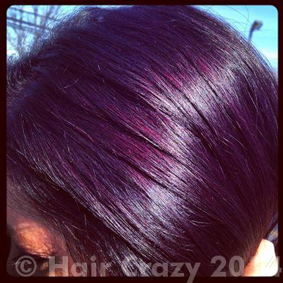 How To Achieve Eggplant Hair Using Pravana Violet