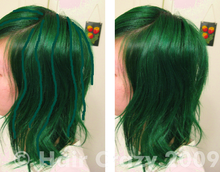 Subtle highlights in green hair forums haircrazy xcrazycolorkidx pmusecretfo Image collections