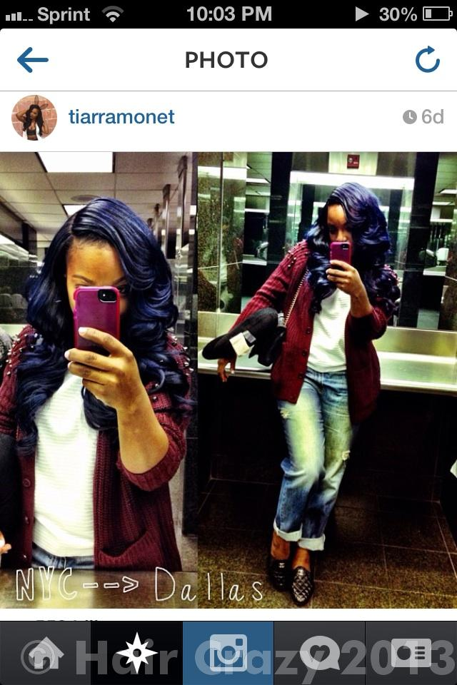 ... Want black/off black hair tinted blue or purple or dyed super dark