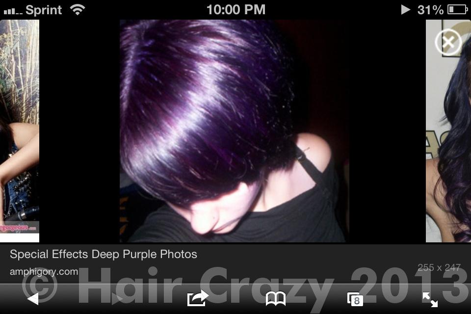 ... hair tinted blue or purple or dyed super dark - Forums - HairCrazy.com