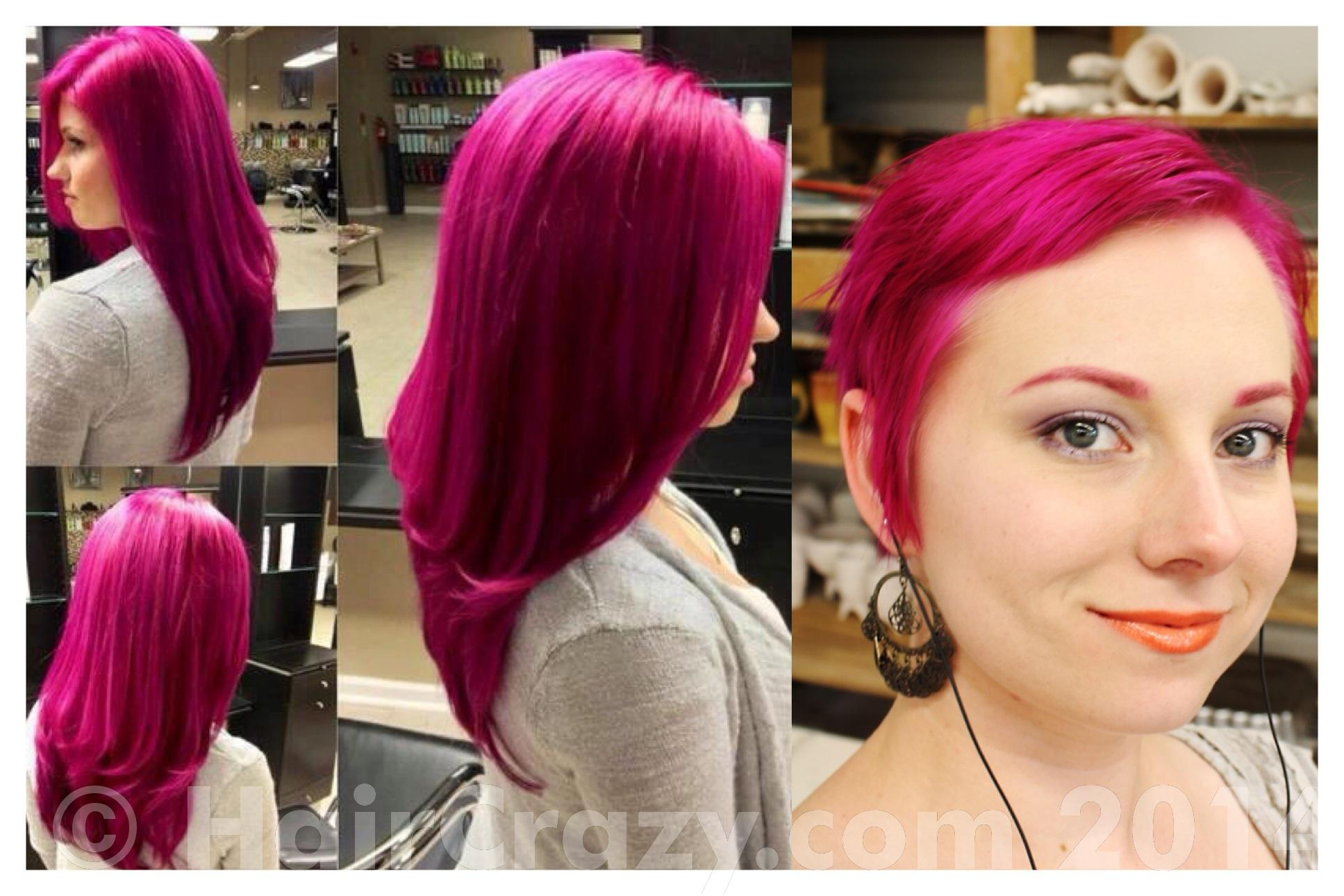 Bright Pink Hair Wearing