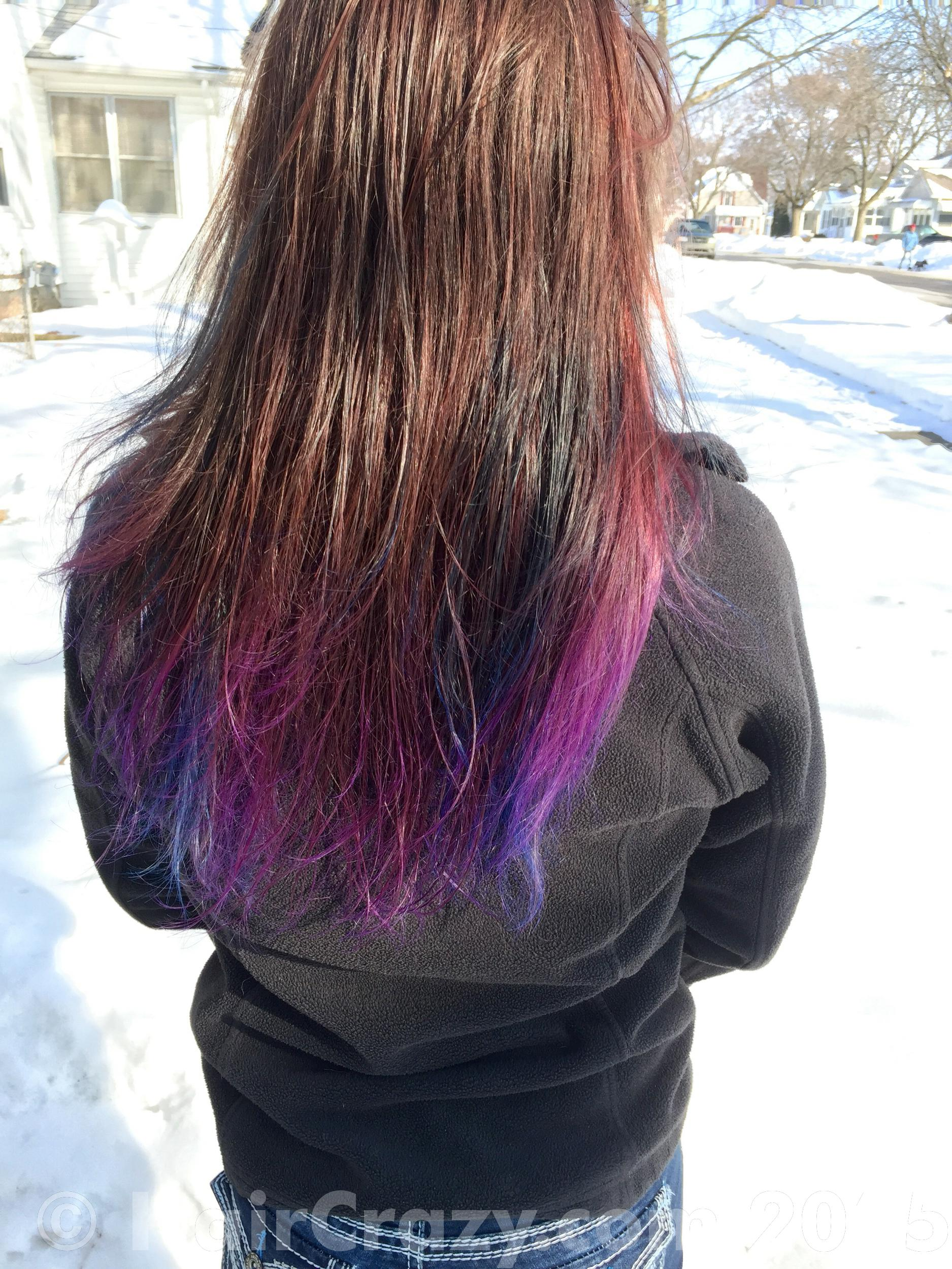 current but now very faded hair color - Pravana Wild Orchid Hair Color
