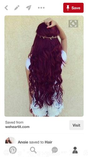 The colour I want to dye my hair.