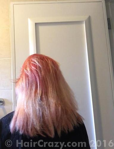 As you can see the top layer of my hair has snapped a lot but the remaining snapped hair is still pretty strong. Maybe it was just the week bits that snapped. They felt like rubber bands.