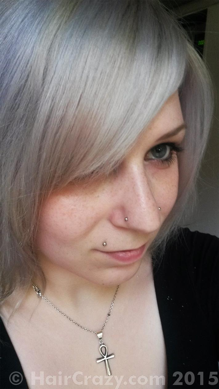 how to get silver hair after bleaching