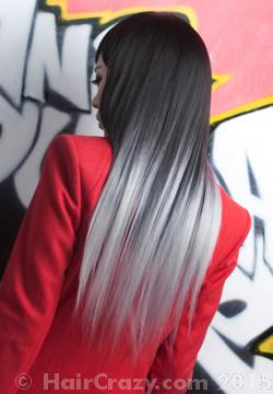Achieving A Silver Ombre On Naturally Dark Brown Black