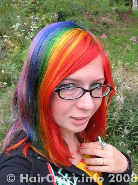 luna_is_a_rainbow using -, Brite Yellow, Special Effects Blue Mayhem, Special Effects Hi-Octane Orange, Special Effects Iguana Green, Special Effects Joyride, Special Effects Nuclear Red - 26th August 2007 1:30 a.m.