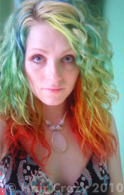 urs using Manic Panic Electric Banana, Manic Panic Pillarbox Red, Special Effects Napalm Orange - 2nd April 2010 3:41 a.m.