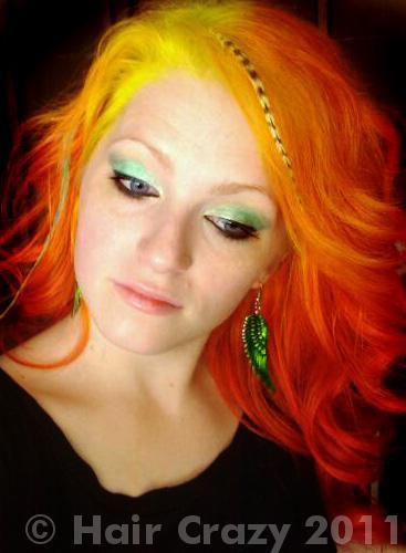 urs using -, Manic Panic Electric Banana, Special Effects Cherry Bomb, Special Effects Hi-Octane Orange, Special Effects Napalm Orange - 20th June 2011 8:36 p.m.