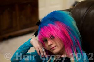sarahlovesherhair -   - Carnation Pink   - Lagoon Blue   - Turquoise