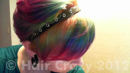 Belindashort using Manic Panic Electric Banana, Special Effects Atomic Pink, Special Effects Fish Bowl, Special Effects Napalm Orange, Turquoise (Punky) - 11th August 2012 4:26 p.m.