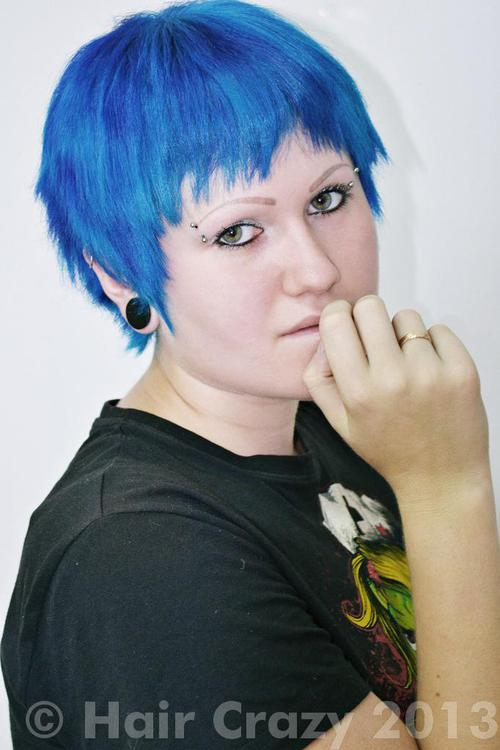 Riese using Manic Panic Shocking Blue - 20th January 2013 10:16 a.m.