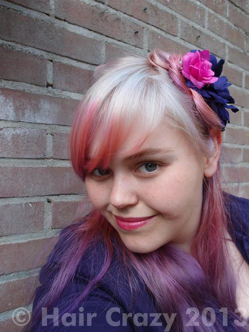 Aodhamair using -, Directions Carnation Pink, Directions White Toner, Manic Panic Purple Haze - 15th June 2013 12:29 p.m.