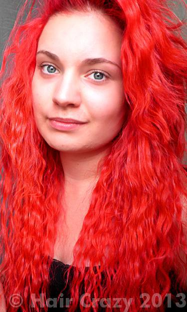 Nniikki using Pravana Red, Special Effects Nuclear Red - 5th July 2013 2:59 p.m.