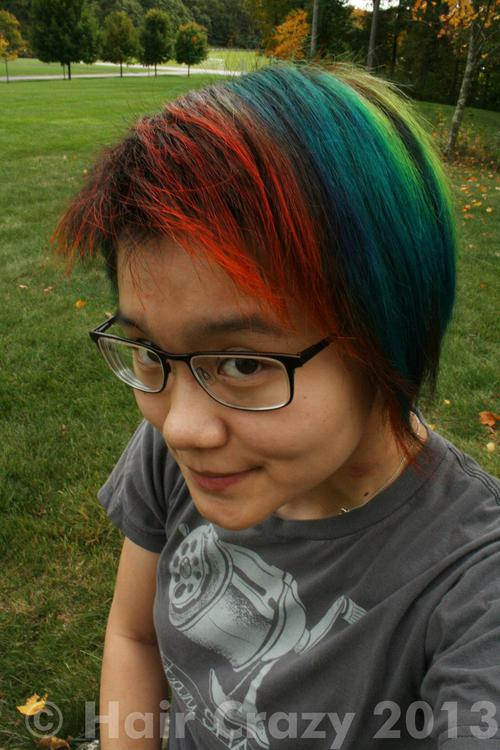 vivienne using Manic Panic Electric Lizard, Special Effects Napalm Orange, Turquoise (Punky), Violet (Punky) - 10th October 2013 1:52 p.m.