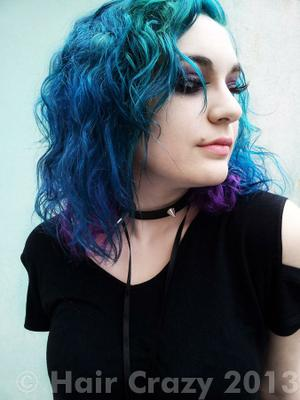 rigelblack -   - Blue Haired Freak   - Deep Purple   - Sonic Green