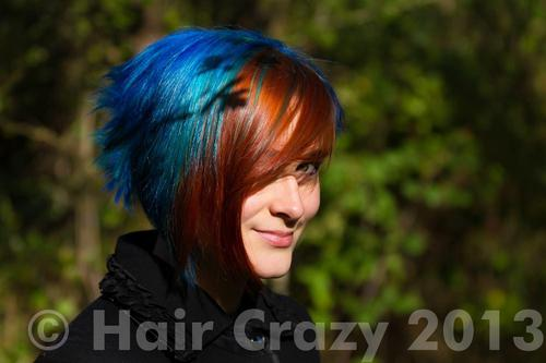 ellinoa using -, Directions Atlantic Blue, Special Effects Blue Haired Freak - 3rd November 2013 11:02 a.m.