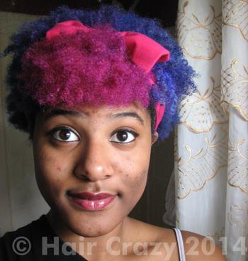 Angirr using Magenta  (Ion Color Brilliance), Manic Panic Ultra Violet, Sky Blue (Ion Color Brilliance) - 2nd February 2014 1:46 a.m.