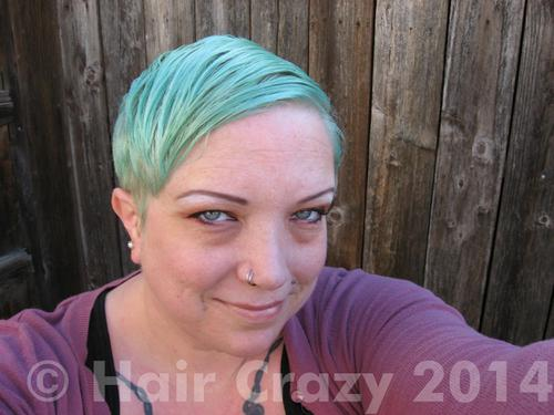 WhiteRabbit using Pravana Mystical Mint - 24th February 2014 4:21 p.m.