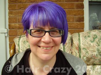 JayCee using Crazy Color Hot Purple - 28th March 2014 2:31 p.m.