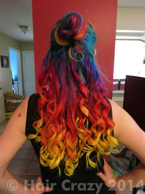 Belindashort using -, Manic Panic Electric Banana, Manic Panic Voodoo Blue, Special Effects Atomic Pink, Special Effects Napalm Orange, Special Effects Nuclear Red, Special Effects Virgin Rose - 17th May 2014 5:35 p.m.