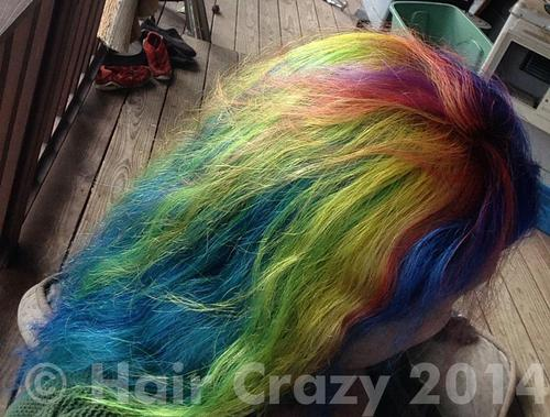 Aymie using Brite Yellow, Manic Panic Electric Lizard, Manic Panic Electric Tiger Lily, Manic Panic Pillarbox Red, Manic Panic Purple Haze, Manic Panic Rockabilly Blue - 28th May 2014 7:55 a.m.