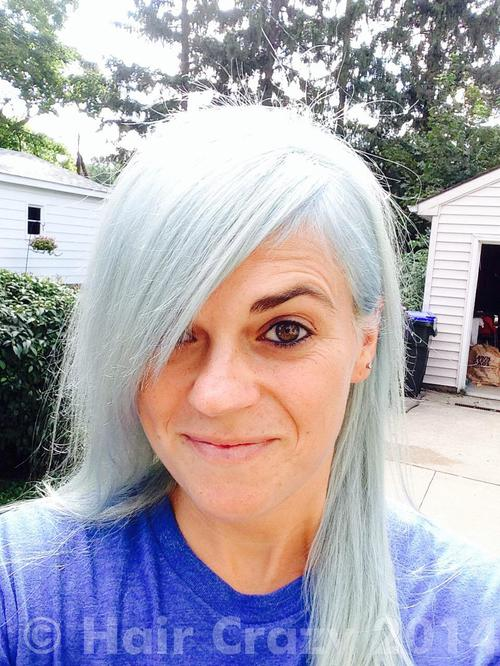 Dufferoo using Pravana Blissful Blue, Pravana Silver - 17th September 2014 11:45 p.m.