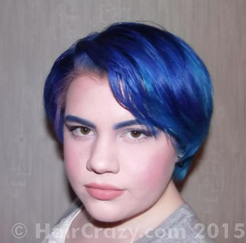 LHOPE using Manic Panic After Midnight Blue, Manic Panic Shocking Blue - 4th January 2015 1:21 a.m.
