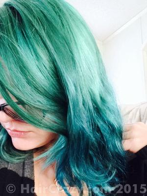 RussetBrunette -   - After Midnight Blue   - Atomic Turquoise