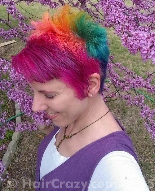 NLeigh using -, Brite Yellow, Directions Apricot, Directions Cerise, Manic Panic Enchanted Forest, Manic Panic Hot Hot Pink, Manic Panic Rockabilly Blue, Plum (Punky), Special Effects Cherry Bomb - 5th April 2015 9:07 a.m.