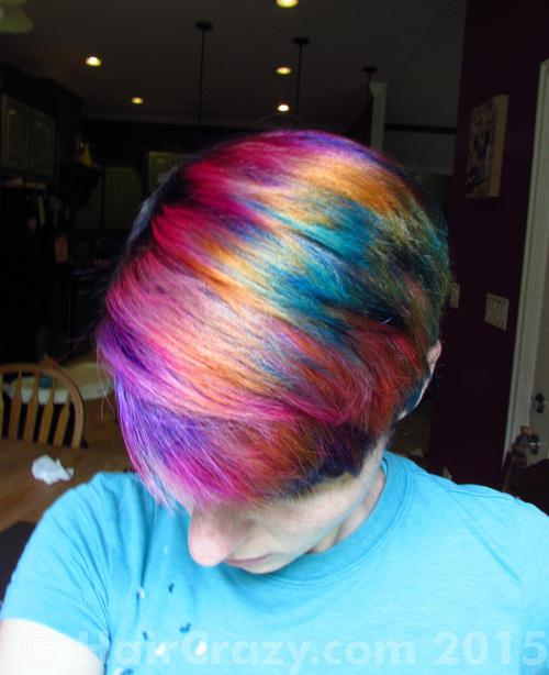 Bmouse using 'N Blue, Directions Apricot, Directions Flamingo Pink, Directions Plum, Manic Panic Green Envy - 15th May 2015 9:56 p.m.