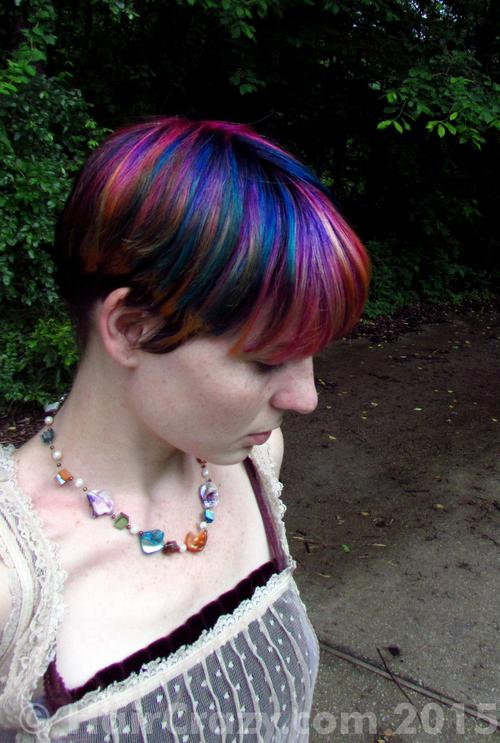 Bmouse using 'N Blue, Directions Apricot, Directions Flamingo Pink, Directions Plum, Manic Panic Green Envy - 17th May 2015 4:35 a.m.