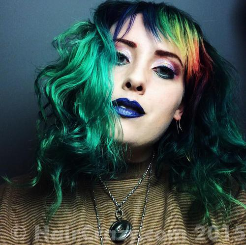 EssBee using Pravana Blue, Pravana Neon Yellow, Pravana Red, Pravana Violet, Pravana Yellow - 16th June 2015 4:15 p.m.