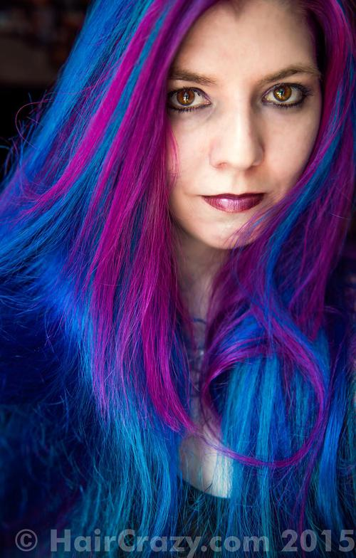 lizzy using Manic Panic Atomic Turquoise, Manic Panic Deep Purple Dream, Manic Panic Hot Hot Pink, Manic Panic Rockabilly Blue - 8th July 2015 3:40 a.m.