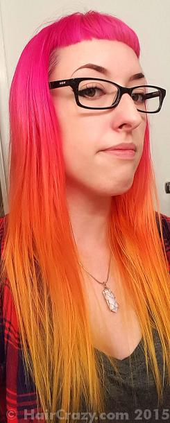 spooki using Adore Neon Pink, Adore Sunrise Orange, Manic Panic Electric Banana - 12th September 2015 3:15 p.m.