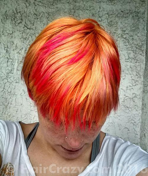 DoOrDye using Bubble Head Pink, Directions Apricot, Manic Panic Electric Banana - 26th February 2016 3:40 p.m.
