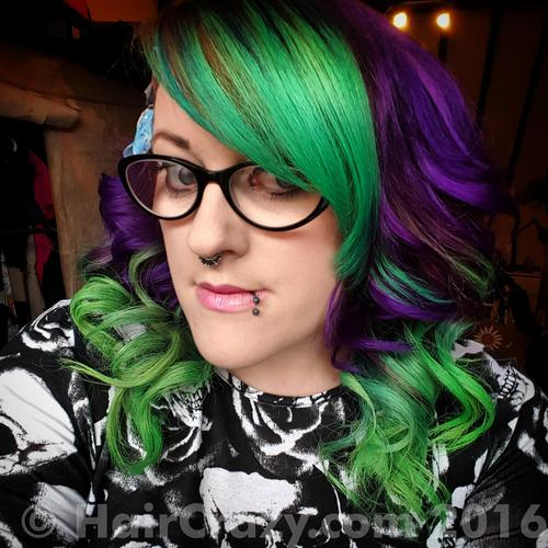 hannahpark-2015 using Directions Spring Green, Manic Panic Purple Haze - 6th March 2016 9:24 p.m.
