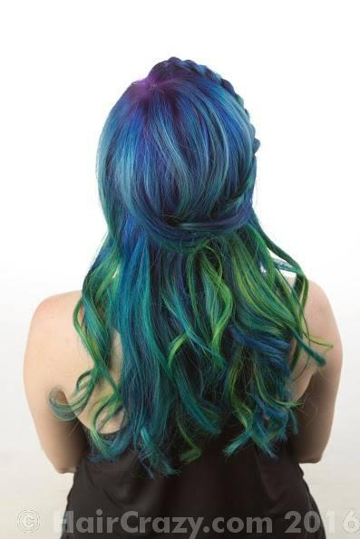 thepalehippie using Pravana Blue, Pravana Locked-In Purple, Pravana Neon Blue, Pravana Neon Green, Pravana Neon Yellow - 6th July 2016 10:09 p.m.