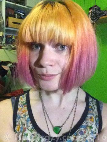 marthakins using Directions Flamingo Pink, Pravana Yellow - 20th July 2016 12:14 p.m.